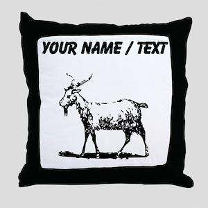 Custom Goat Throw Pillow