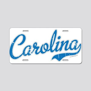 Carolina Blue Aluminum License Plate