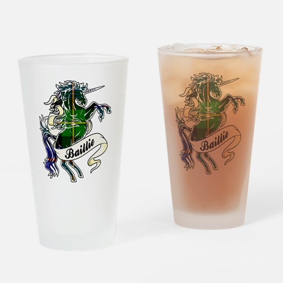 Baillie Tartan Unicorn Drinking Glass