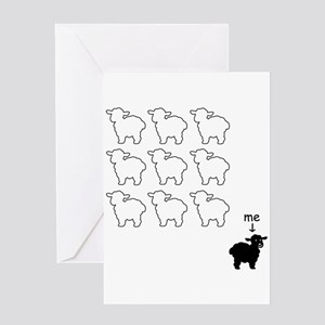 Black sheep greeting cards cafepress black sheep card greeting cards m4hsunfo