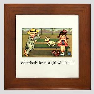Everybody Loves a Girl Who Kn Framed Tile