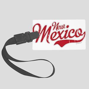 New Mexico Script Font Crimson Luggage Tag