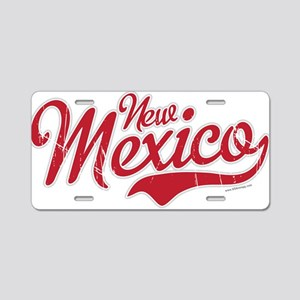 New Mexico Script Font Crimson Aluminum License Pl