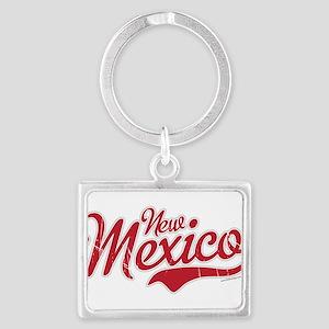 New Mexico Script Font Crimson Keychains