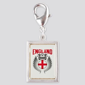 Soccer England Vintage Wings Silver Portrait Charm