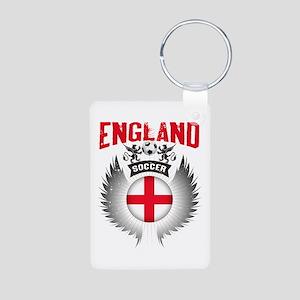 Soccer England Vintage Win Aluminum Photo Keychain