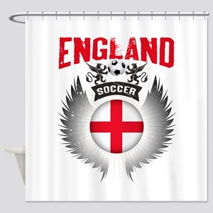 Soccer England Vintage Wings Shower Curtain