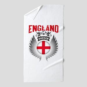 Soccer England Vintage Wings Beach Towel