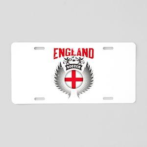 Soccer England Vintage Wing Aluminum License Plate