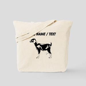 Custom Billie Goat Silhouette Tote Bag