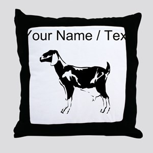Custom Billie Goat Silhouette Throw Pillow