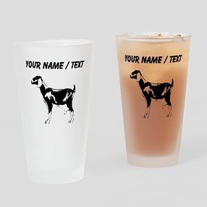 Custom Billie Goat Silhouette Drinking Glass