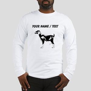 Custom Billie Goat Silhouette Long Sleeve T-Shirt