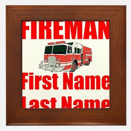 Fireman Framed Tile