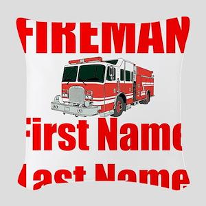 Fireman Woven Throw Pillow