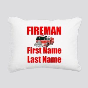 Fireman Rectangular Canvas Pillow