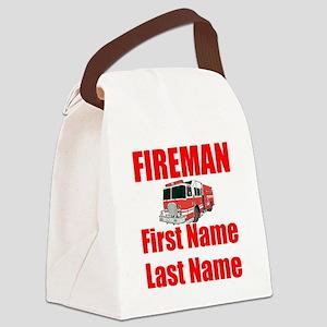 Fireman Canvas Lunch Bag