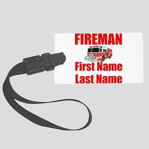 Fireman Luggage Tag