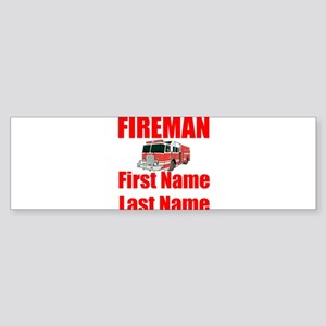 Fireman Bumper Sticker