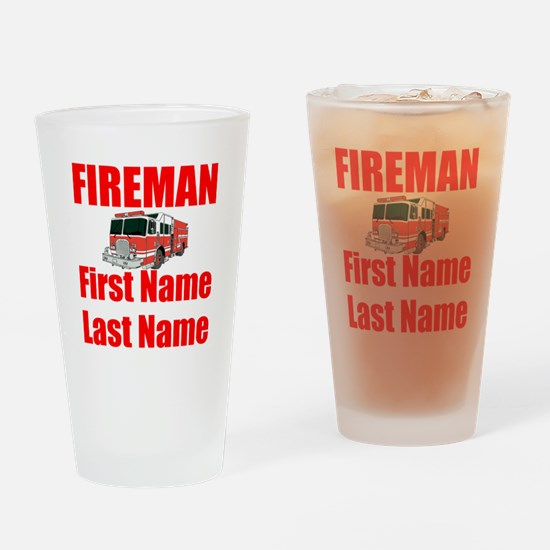 Fireman Drinking Glass