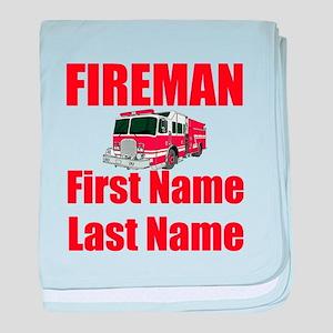 Fireman baby blanket