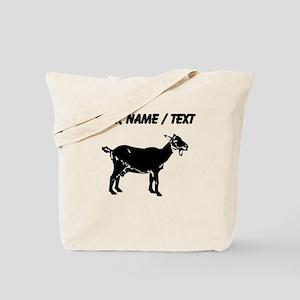 Custom Goat Silhouette Tote Bag