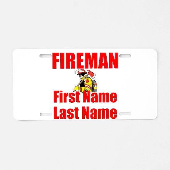 Fireman Aluminum License Plate