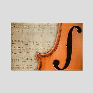 Antique Violin Rectangle Magnet