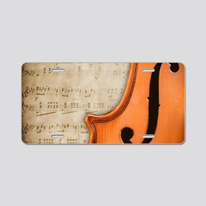 Antique Violin Aluminum License Plate