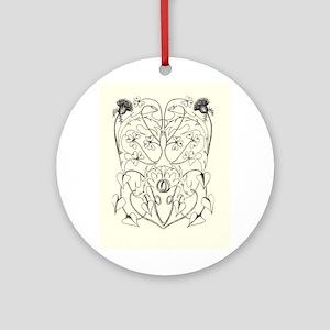Celtic Wedding design Ornament (Round)