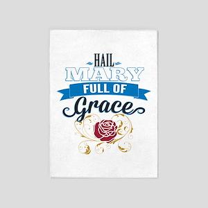 Hail Mary 5'x7'Area Rug