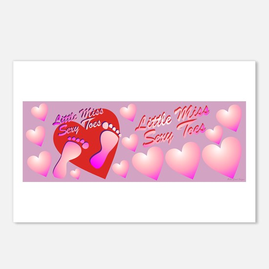 Little Miss Sexy Toes Postcards (Package of 8)