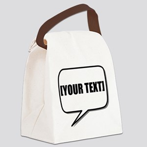 Word Bubble Personalize It! Canvas Lunch Bag