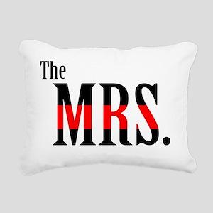 The Mrs. Fireman's Wife  Rectangular Canvas Pillow