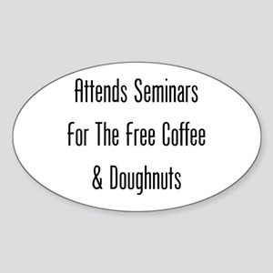 Seminars: Free Coffee and Doughnuts Sticker