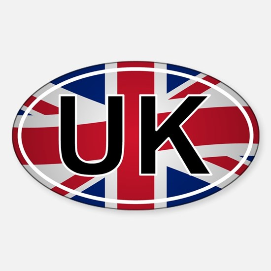 United Kingdom Oval Sticker - Union Jack Design