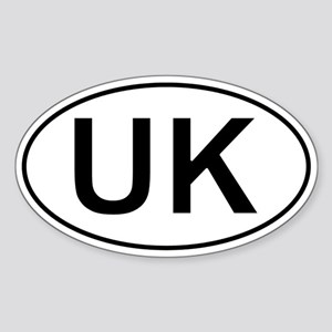 United Kingdom Oval Car Sticker - Uk