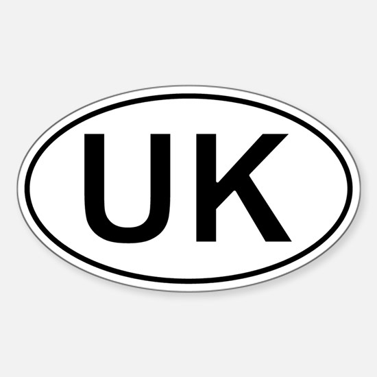 United Kingdom Oval Car Sticker - Uk