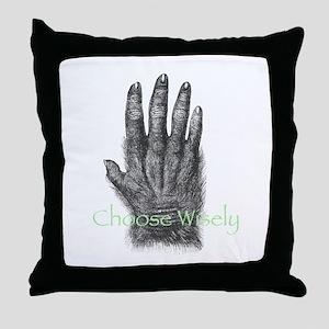 Monkeys Paw Throw Pillow