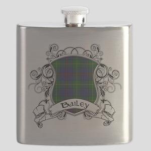 Bailey Tartan Shield Flask