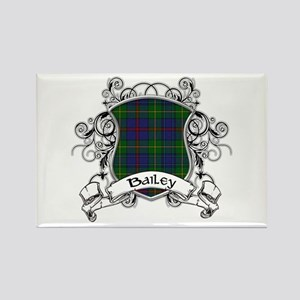 Bailey Tartan Shield Rectangle Magnet