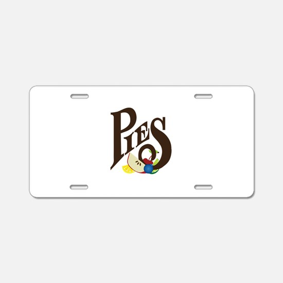 Pies Aluminum License Plate