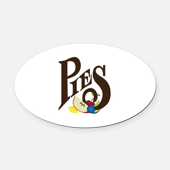 Pies Oval Car Magnet