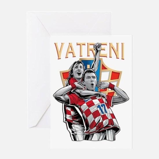 Croatia Soccer Hrvatska Nogomet Greeting Cards