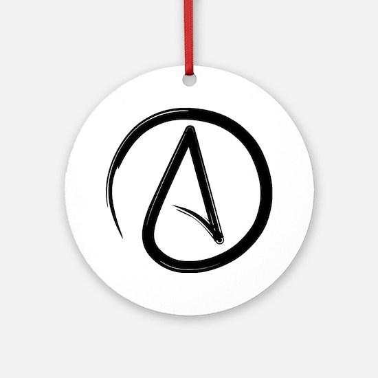 Atheist Symbol Ornament (Round)