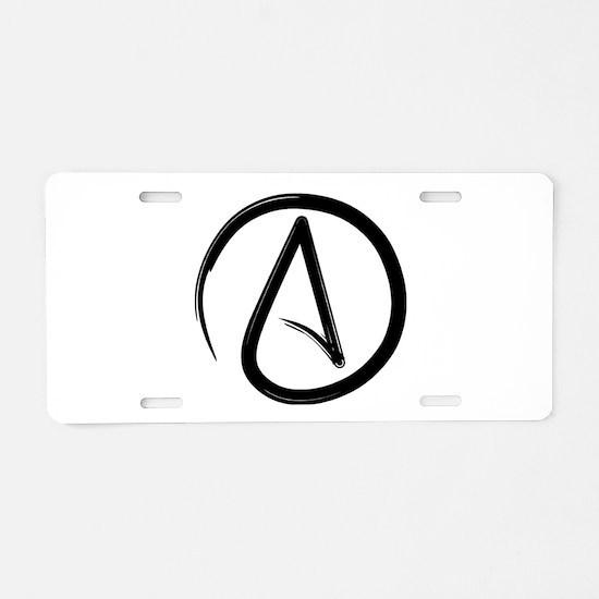 Atheist Symbol Aluminum License Plate