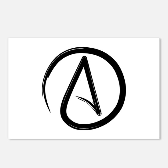 Atheist Symbol Postcards (Package of 8)