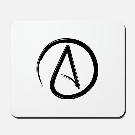 Atheist Symbol Mousepad