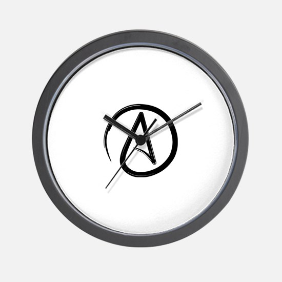 Atheist Symbol Wall Clock