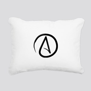 Atheist Symbol Rectangular Canvas Pillow